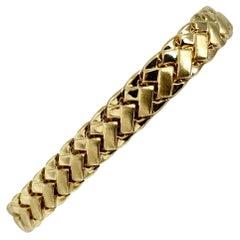 14 Karat Fine Yellow Gold 10.2g Fancy Link Bracelet