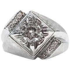 14 Karat Geometric Diamond Ring