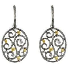 14 Karat Gold 0.08 Carat Diamond Earrings