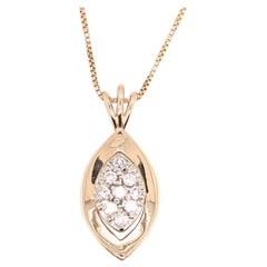14 Karat Gold .50 Carat Diamond Pendant