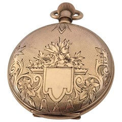 14 Karat Gold American Watch Co. Waltham Full Hunter Ladies Size Pocket Watch