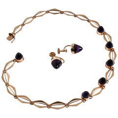 14 Karat Gold and Amethyst Necklace