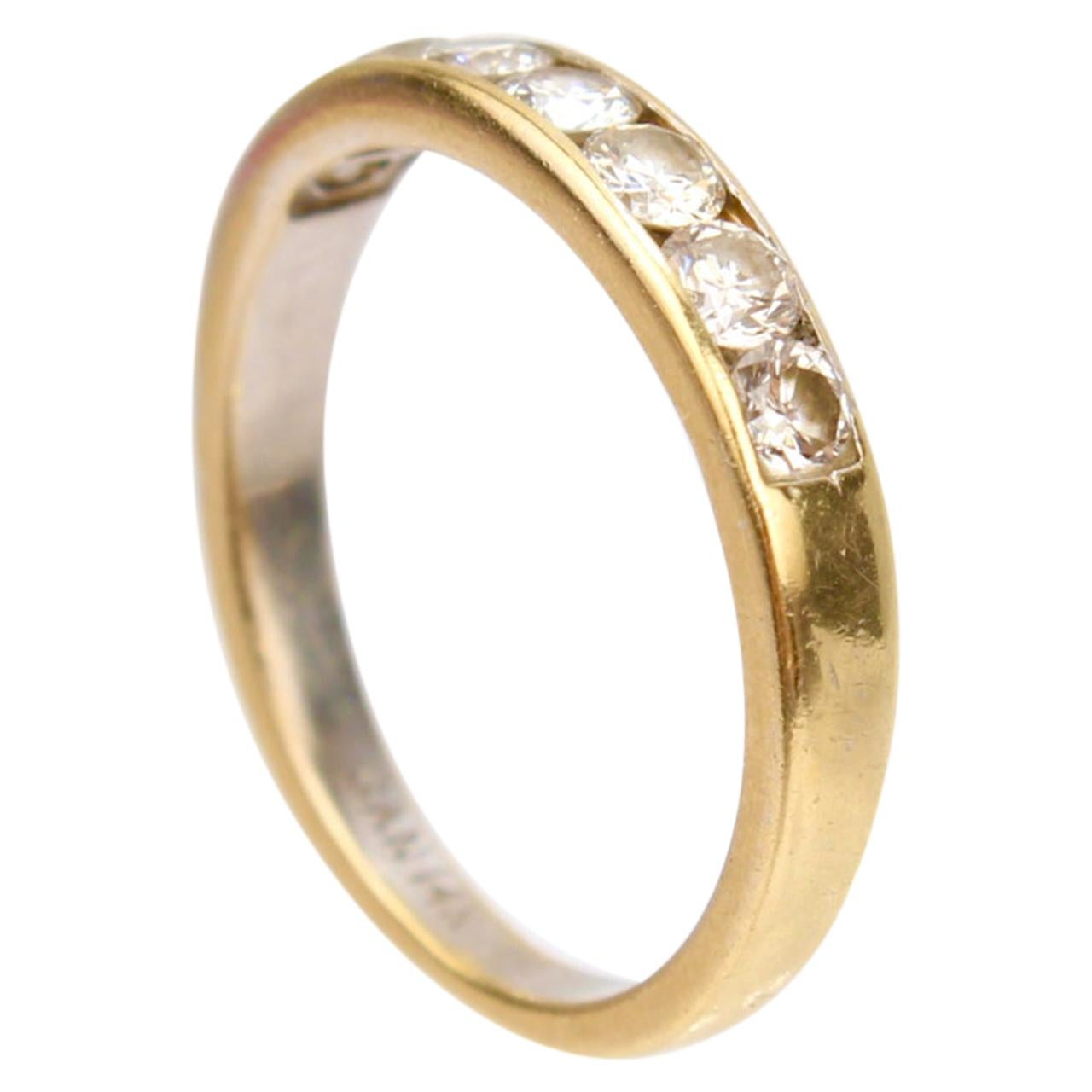 14 Karat Gold and Channel Set Diamond Wedding Band Ring