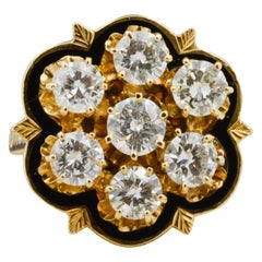14 Karat Gold and Diamond Cluster Ring