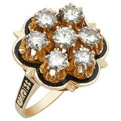 14 Karat Gold and Diamond Cluster Ring