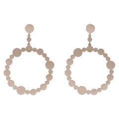 14 Karat Gold Circle Hoop Earrings