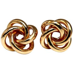 14 Karat Gold Circular Cosmic Earrings