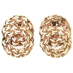 14 Karat Gold Clip-On Earrings Vintage