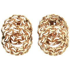 14 Karat Gold Clip-On Earrings Vintage