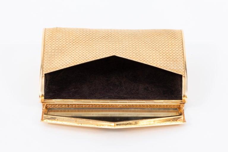 14-Karat Gold Clutch Purse with Diamonds For Sale 4