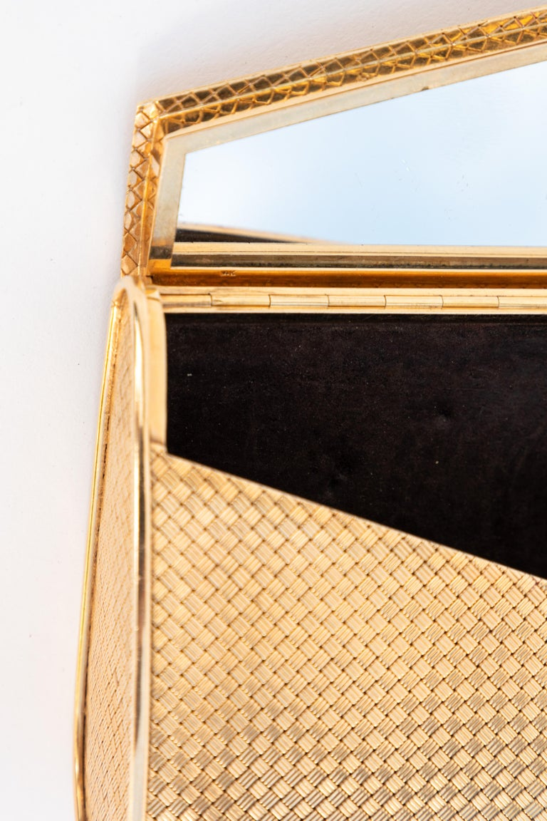14-Karat Gold Clutch Purse with Diamonds In Good Condition For Sale In Los Angeles, CA