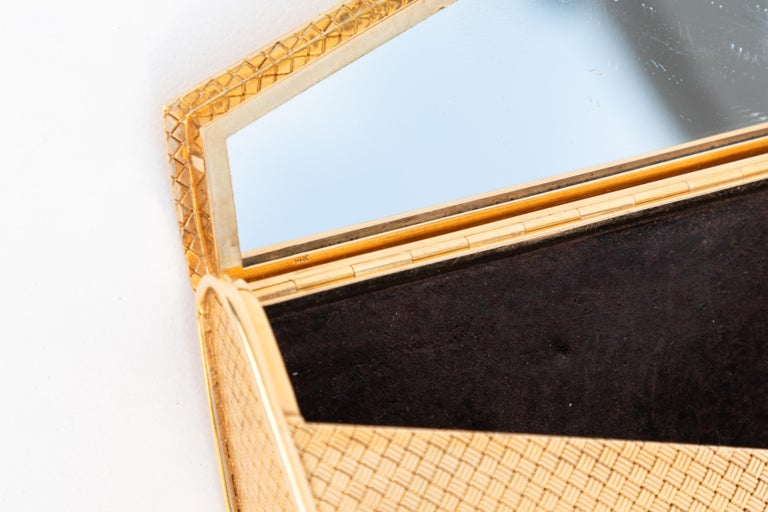 20th Century 14-Karat Gold Clutch Purse with Diamonds For Sale