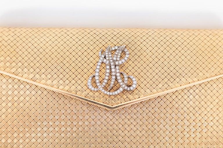 14-Karat Gold Clutch Purse with Diamonds For Sale 2