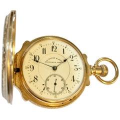 19th Century 14-Karat Gold D.Gruen & Son Swiss Pocket Watch