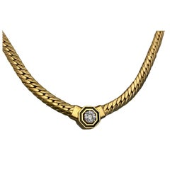 14 Karat Gold, Diamond Bella Necklace