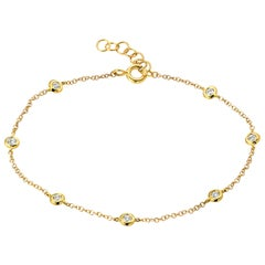 14 Karat Gold Diamond by The Yard Bracelet