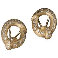 14 Karat Gold Diamond Clip Earrings
