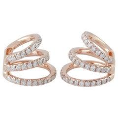 14 Karat Gold Ear Cuff Diamond Earrings