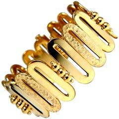 14 Karat Gold Elongated O Link Bracelet