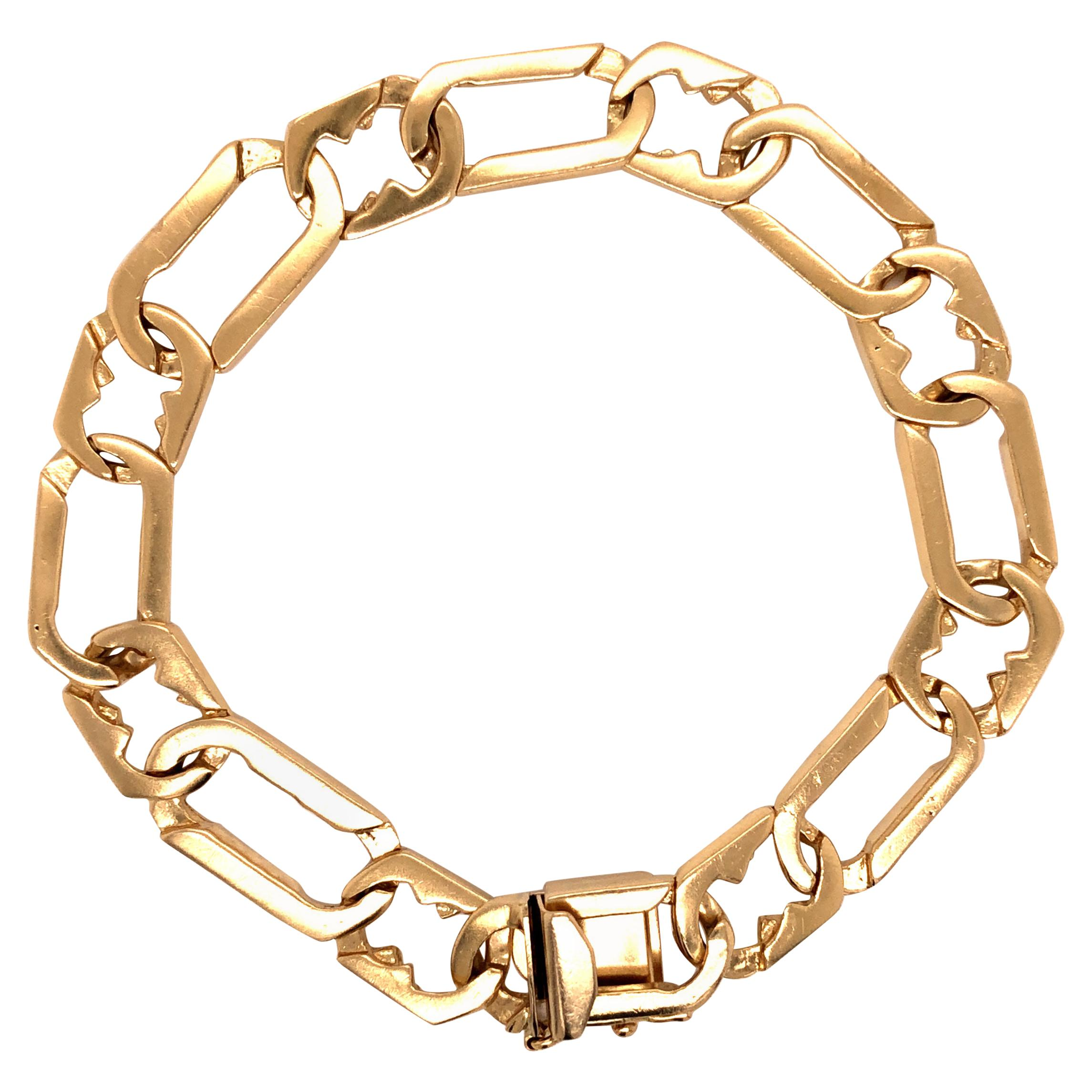 14 Karat Gold Fancy Link Bracelet