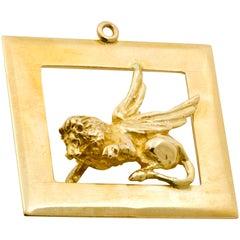 14 Karat Gold Gryphon Charm