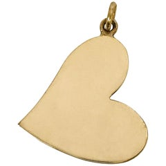 14 Karat Gold Heart-Shaped Pendant
