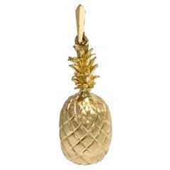 14 Karat Gold Heavyweight Pineapple Pendant