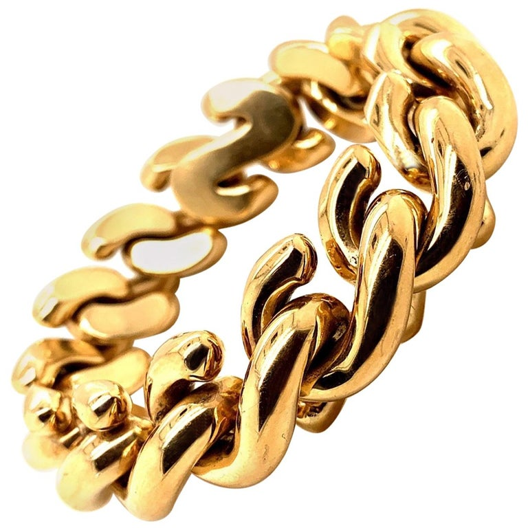 14 Karat Gold Italian Bracelet For Sale