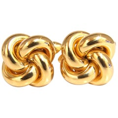 14 Karat Gold Knot Twist Cufflinks
