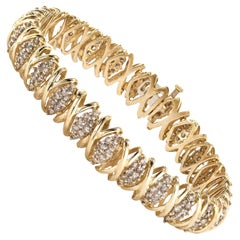 14 Karat Gold Ladies Bracelet with Diamonds
