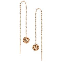 14 Karat Gold Long Threader Earrings