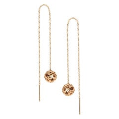 14 Karat Gold Long Threader Earrings