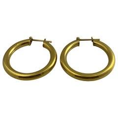 14 Karat Gold Medium Hoop Earring, 8.3 Grams
