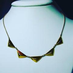 14 Karat Gold Mid-Century Modern Necklace Finland Eino Westerback 1959 Rare