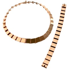 14 Karat Gold Necklace Designed by Bent Knudsen, Denmark