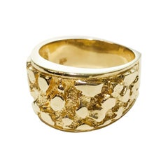 14 Karat Gold Nugget Ring