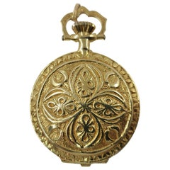 14 Karat Gold Pocket Watch 'Removable Pendant'
