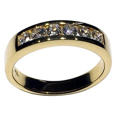 Diamond Channel set Ring in 14kt Gold