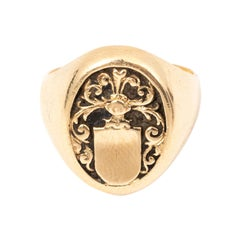 14 Karat Gold Signet Ring