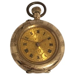 14 Karat Gold Small Antique Pocket / Fob Watch