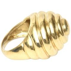 14 Karat Gold Spiral Dome Ring Vintage