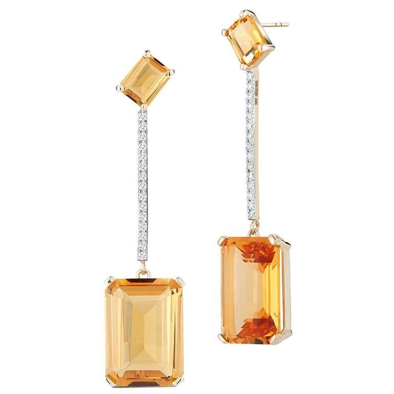14 Karat Gold Sunset Earring For Sale