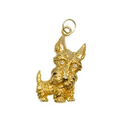 14 Karat Gold Terrier Dog Pendant