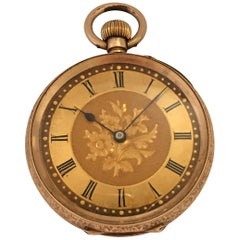 14 Karat Gold Victorian Period Small Pocket Watch