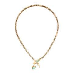 14 Karat Gold Victorian Serpent Necklace