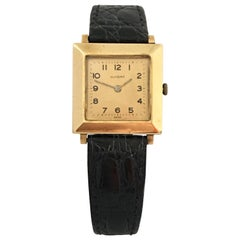 14 Karat Gold Vintage 1940s Glycine Swiss Watch