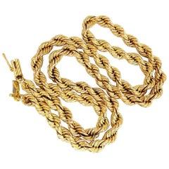 14 Karat Gold Vintage Rope Chain