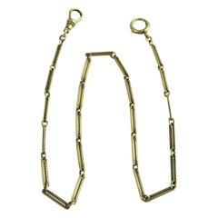 14 Karat Gold Watch Fob Chain Necklace Victorian Antique
