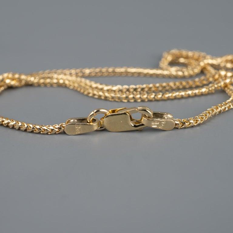 14 Karat Gold Winged Scarab Beetle Pendant Necklace Natural Certified Emerald For Sale 2