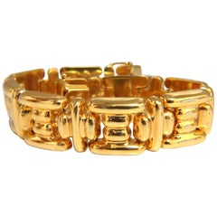 14 Karat Greek Icon Link Bracelet 33 Gram
